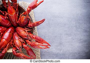 crayfish.