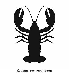 Crayfish icon, simple style