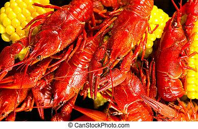 crayfish., kartoffel, creole, getreide, furunkel, stil, ...