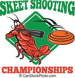 Crayfish Lobster Target Skeet Shooting - Illustration of a...
