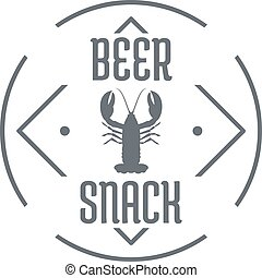 Crayfish logo, simple gray style