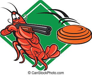 crayfish, schrotflinte, skeet