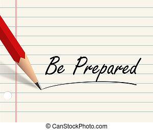 crayon, être, papier, -, préparé
