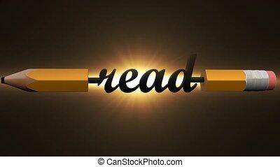crayon, 16., lire, intéressant, livre, créatif, journal, ...