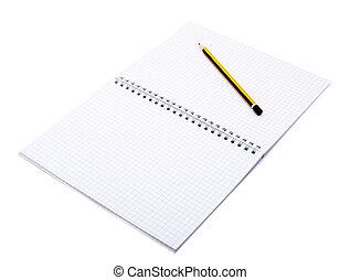 crayon 2, ouvert, cahier
