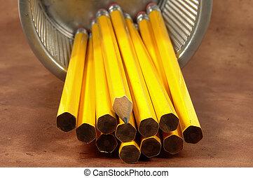 crayon, aiguisé, 2