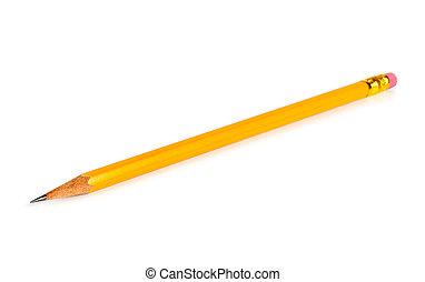 crayon, blanc, isolé, fond