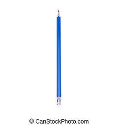 crayon, blanc, isolé