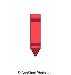 crayon color art draw education school icon design