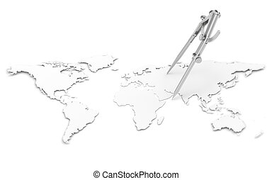 crayon, compas