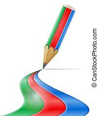 crayon, concept, art, illustration, créatif, vecteur