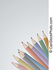 crayon couleur, élégance