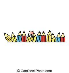 crayon couleur, icône, stockage