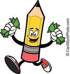 crayon, courant, argent