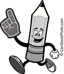 crayon, courant, mousse, illustration, main