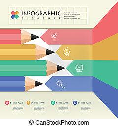 crayon, education, business, infographics