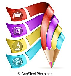 crayon, education, infographic