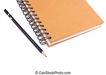 crayon, et, livre