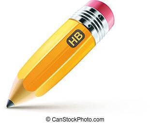crayon, jaune