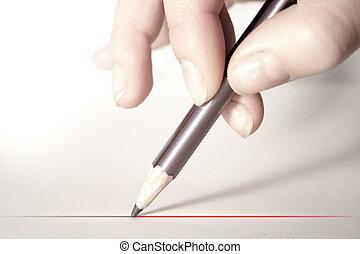 crayon, main