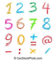 crayon, nombres