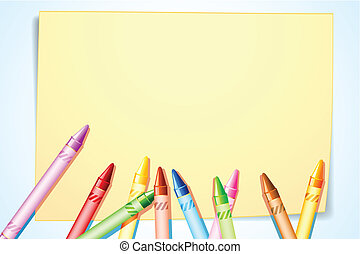 Crayon on Canvas - illustration of colorful canvas on canvas...