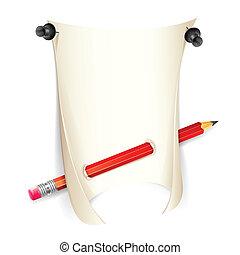 crayon, papier