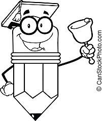 crayon, prof, esquissé