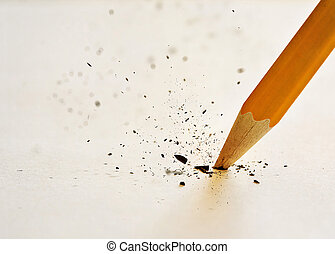 crayon, rupture