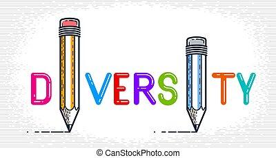 crayon, spécial, ou, font., créatif, vecteur, mot, fait, je...