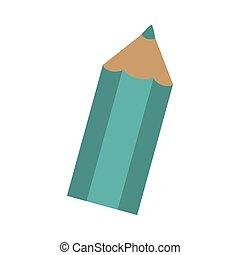 crayon, une, silhouette, coloré, icône
