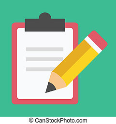 crayon, vecteur, formulaire, icône