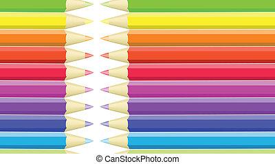 crayons, achtergrond, seamless