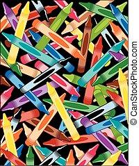 crayons, achtergrond