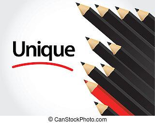 crayons, arranger, rouge noir, crayon