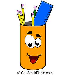 crayons, boîte