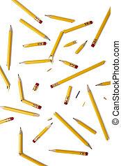 crayons cassés