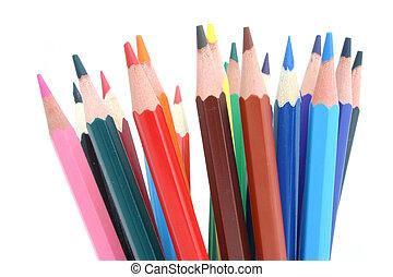 crayons, coloré, #2