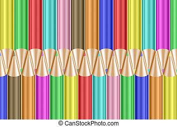 crayons, coloré, fond