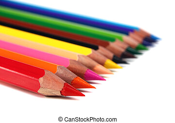 crayons coloured pencils