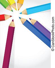 crayons, couleur