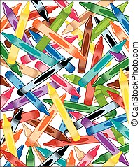 crayons, fond