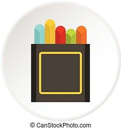 Crayons icon circle