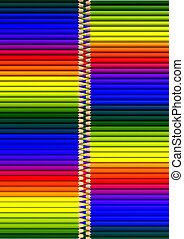 crayons in closed zipper