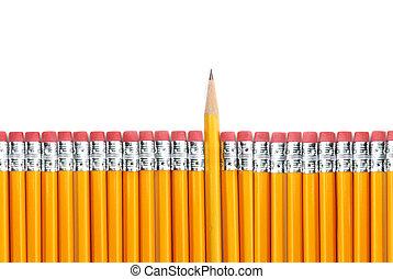 crayons, jaune