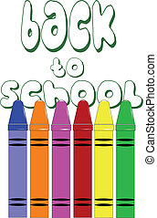 CRAYONS ON WHITE CONCEPT