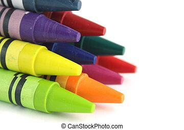 crayons, pyramide, 10