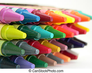 Crayons Shallow Depth of Field