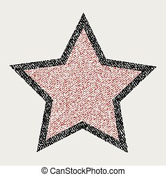 Crayons star on white background