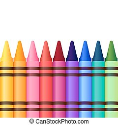 crayons, vecteur, collection